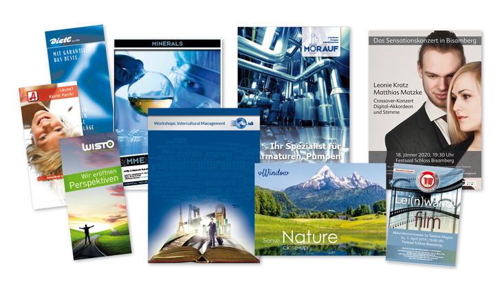 Werbeservice gestaltet Prospekte und Folder.